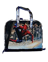 Wise Guys SpiderMan Print Drawing Bag For Kids - Metallic Blue