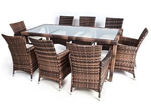 ... mobili in rattan tavoli per esterno sedie da giardino set 8+1: Amazon