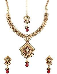 Voylla Alloy Multicolored Necklace Set