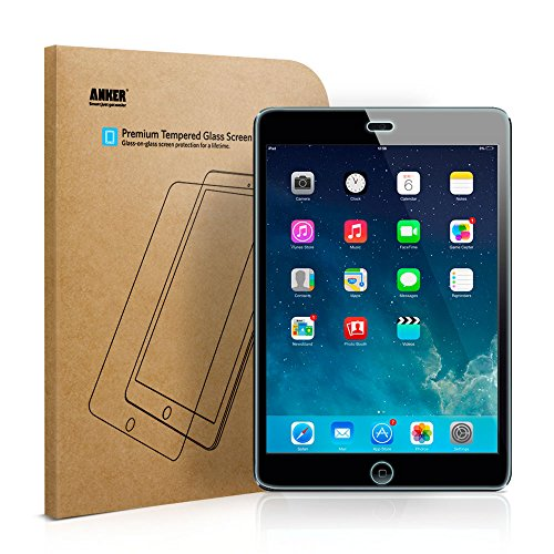 [Scratch Terminator] Anker Tempered-Glass Screen Protector for iPad Mini / iPad Mini 2 / iPad Mini 3 with Retina display - Premium Crystal Clear  (Not compatible with iPad Mini 4)