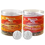Chocholik Dry Fruits - Almonds Tandoori Masala And Tangy Tomato With 5gm X 2 Pure Silver Coins - Diwali Gifts...