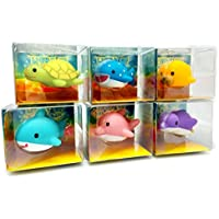 Rittle Sea Animals, Cute Floating Light Up Bath Toys (Set Of 6)