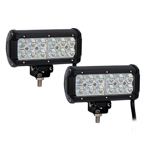 Nilight 2PCS 6.5″ 36w Flood LED Work Light Off Road LED Light Bar Super Bright for Jeep Cabin Boat SUV truck Car ATVs ,2 Years Warranty