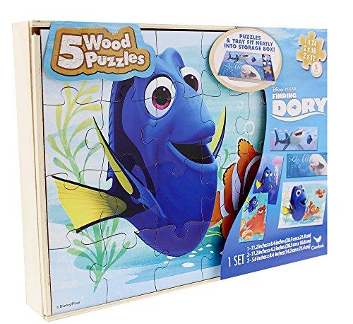 Disney/ PIXAR Finding Dory Wood Puzzle Set - 5 Puzzles (1-11.2