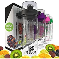 Bevgo Fruit Infuser Water Bottle - Large 32oz - Save Your Money And Hydrate The Healthy Way - Multiple Colors...
