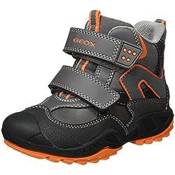 Geox Jungen J New Savage Boy C Boots mit Velcro, Grau (Grey/ORANGEC0036), 40 EU