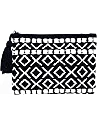 Diwaah Beautifully Handcrafted Casual Cotton Black Color Rug Zip Top With Zip (DWH000000788)