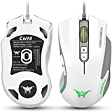 Combaterwing CW10 DPI Wired Professional Gaming Mouse Mice 6 Breathing LED Colors 7 Buttons Design Changing High... - B01HOAYAMM