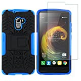 Shopizone Rugged Military Back Case Cover With Tempered Glass Protector For Lenovo K4 Note - Blue