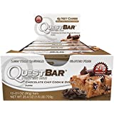 Quest Nutrition Protein Bars Chocolate Chip Cookie Dough 12 Bars