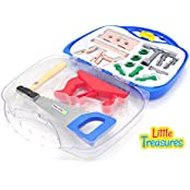 Little Treasures 14 Piece Deluxe Tool Series Pretend And Play Tools Play Set In Carry Case Great Educational Toy...