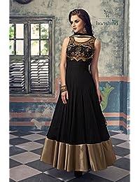 London Beauty Black Designer Anarkali Suit