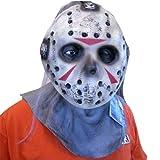 Rubie's Costume Versus Freddy Deluxe Overhead Latex Jason Mask, Multicolored, One Size