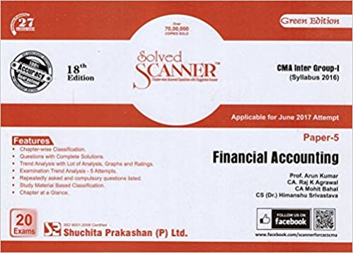 Solved Scanner on Financial Accounting for CMA Inter Group I June 2017