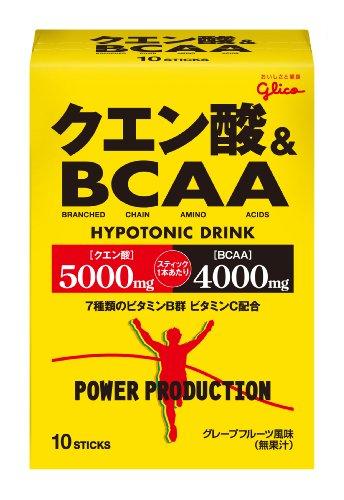 グリコ パワープロダクション クエン酸&BCAA グレープフルーツ風味 1袋(12.4g) 10袋