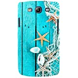 For Samsung Galaxy S3 I9300 :: Samsung I9305 Galaxy S III :: Samsung Galaxy S III LTE Blue Wood Board ( Blue Wood Board, Wood Board, Net, Wood Board ) Printed Designer Back Case Cover By FashionCops