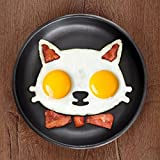 Alcoa Prime Hot Kitchen Silicone Cats Egg Shaper Cats Fried Eggs Mould Cute Interesting Mould
