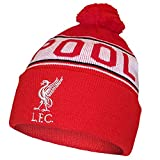 Official LIVERPOOL FC red and white bobble hat