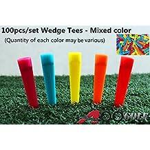 "A99 Golf 100pcs Golf Wedge Tee 2 3/4"" -mixed Color"