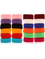 AccessHer Soft Multicolor Rubber Hair Band - Set Of 24 Pcs. - B01JUSF43K