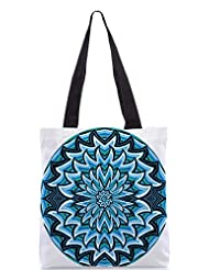 Snoogg Abstract Water Waves Background Vector Illustration Designer Poly Canvas Tote Bag