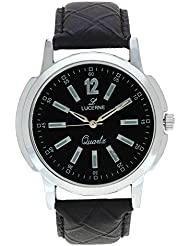 LUCERNE Black Dial Analog Leather Strap Casual Watch For Men