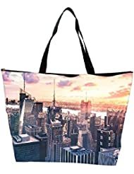 Snoogg Abstract Buildings Designer Waterproof Bag Made Of High Strength Nylon - B01I1KMSXC