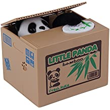 Alcoa Prime Popular New Cute Panda Automatic Stole Coin Piggy Bank 11. 5x9. 5x9cm Size Money Saving Box Moneybox...