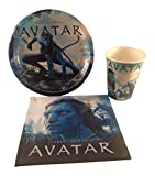 Avatar Party Supplies Bundle: 3 Items - Plates, Napkins, Cups