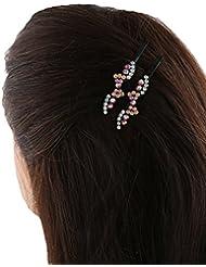 Anuradha Art Pink Colour Stylish Classy Stone Hair Accessories Side Pin Stylish Hair Clip For Women/Girls