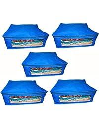 Abhinidi Non-Woven Multipurpose Large 10inc Sareee Cover 5PC Capacity 10-15 Units Saree Each - B01E7RF27W