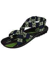 Venus PU Green Color Sandals For Men - (PU-1904-GRN)