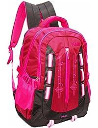 Gleam Fashion 30 Ltrs Polyester School Bag ( Pink & Black )