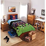 Spaces FCB Player Kids Single Bed Sheet With 1 Pillow Cover - Blue