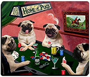 pug care game amazon com 4 dogs playing poker pug mousepad toys games 6664