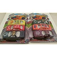 "Die-cast Metal Racing Cars _ TWO Sets Of 3-ct. Packs Of 2¾"" (L) Die-cast Cars _ Total Of 6 Differen"