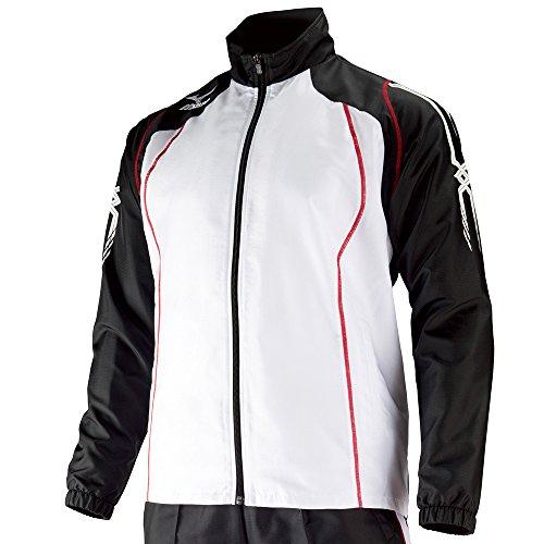 (ミズノ)MIZUNO 陸上 ウインドブレーカーシャツ U2JE4520 09 ブラック×ホワイト S