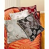 Legacy Damask 18 X 18 Decorative Cushion Cover Color: Burgundy