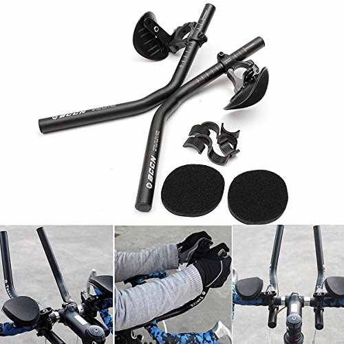 Bike Handlebars,LOPEZ Bicycle Rest Handlebars Aluminum Alloy AeroBars Vice Bar for Road bikes, MTB Bike Long-distance Mountain Cycling Racing Travel Relax and Rest