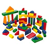 KidKraft 60 PC Wooden Block Set - Primary Colors