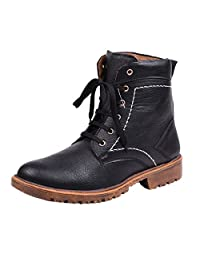 Knoos Mens WAV911-BL Synthetic Leather BOOT