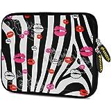 Amzer 10.5 Inch Neoprene Sleeve Zebra Kiss For Apple IPad Air, Apple IPad 4, Apple IPad 2