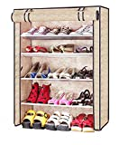 Evana Four Layer Printed Shoe Rack/Shoe Shelf/Shoe Cabinet,Easy Installation Stand For Shoes-Multicolor
