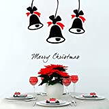 Decal Style Christmas Bells Wall Sticker Tiny Size- 16*16 Inch