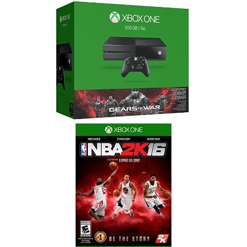 Xbox One 500GB Console - Gears of War: Ultimate Edition Bundle + NBA 2K16