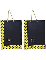 Richa Kriti Handmade Paper Reusable Shopper Bag (Black)