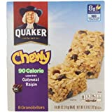 Quaker Chewy Granola Bar Low Fat Oatmeal Raisin, 8-Count Boxes (Pack Of 12)