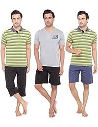 Men's Casual Tops, Capri & Shorts Set Combo By Valentine - B01BSMCRF4