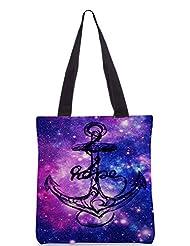 Snoogg Anchor Universe Poly Canvas Tote Bag