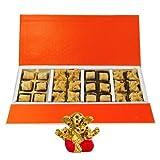 Chocholik Belgium Chocolates - 24pc Amazing Treat Of Baklava Gift Box With Small Ganesha Idol - Diwali Gifts